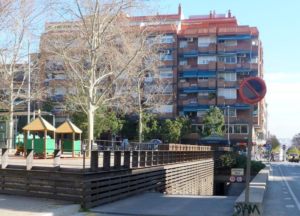 Entrada aparcament Plaça Catalunya